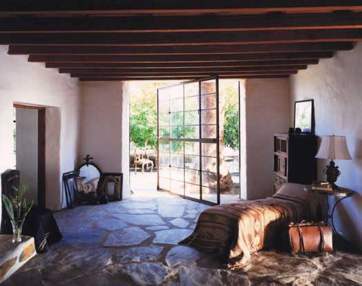 Massive Center Pivot Door Opens Up This Beautiful Room.