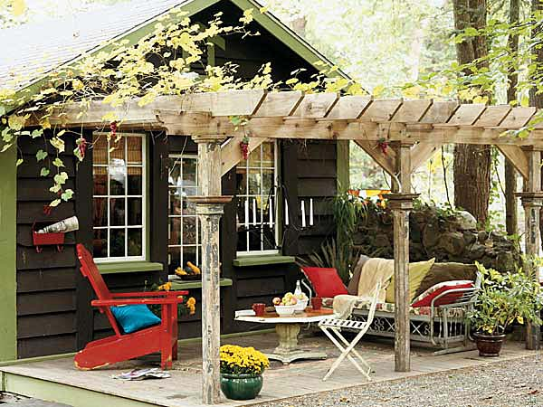 Country Covered Terrace Nice Design Idea For A Detached