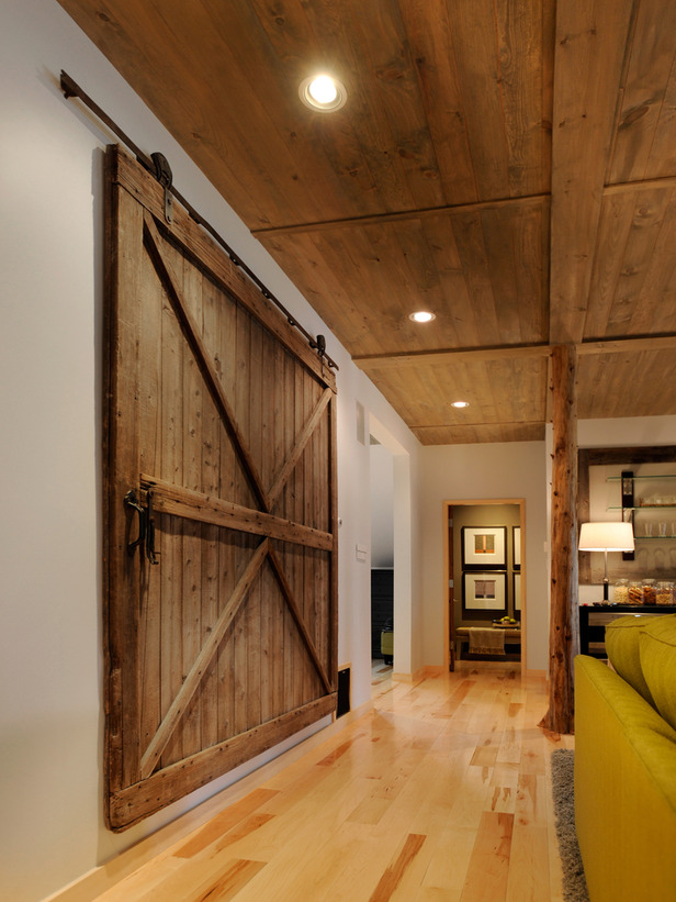 M ceiling 1 by 6 pine planks warmed with one part water and one part grey wash