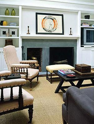 L fireplace living