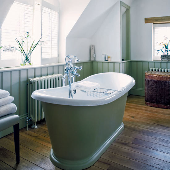 Wainscoting in the Bathroom - buckboard hill interiors on green lumber, green floors, green patio, green balcony, green nursery glider, green shelves, green bars, green columns, green accessories, green plumbing, green faucets,
